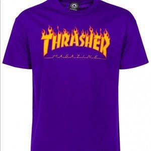 "Purple ""Thrasher"" Shirt"